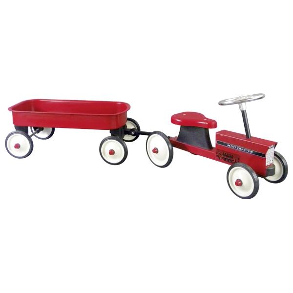 goki Толокар Трактор с тележкой (красный)