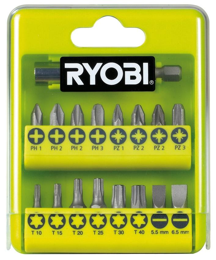 Ryobi Набір біт RAK17SD, 17 од., 16х25мм, тримач 60мм