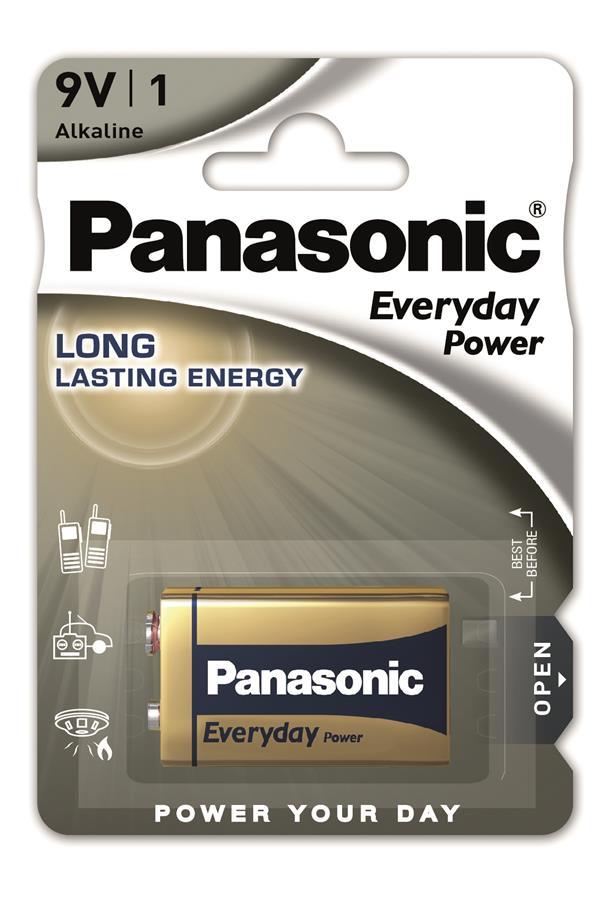 Panasonic EVERYDAY POWER 6LR61 BLI 1 ALKALINE