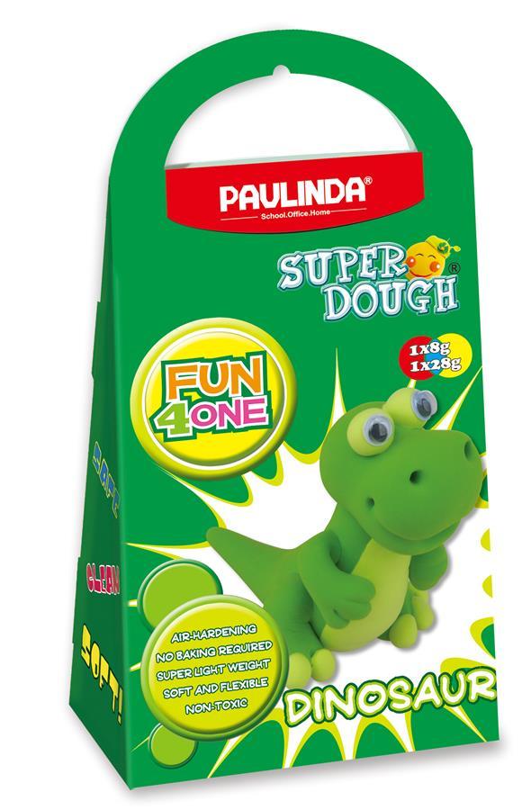 PAULINDA Масса для лепки Super Dough Fun4one Динозавр (подвижные глаза)